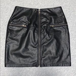 LF Leather zipper skirt